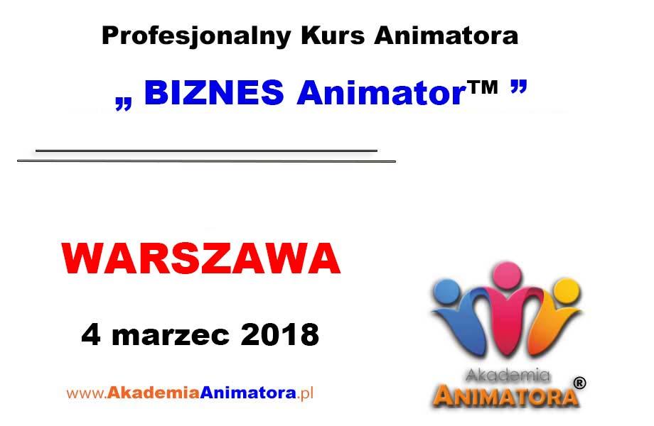 Kurs Animatora Warszawa – BIZNES Animator™ 04.03.2018