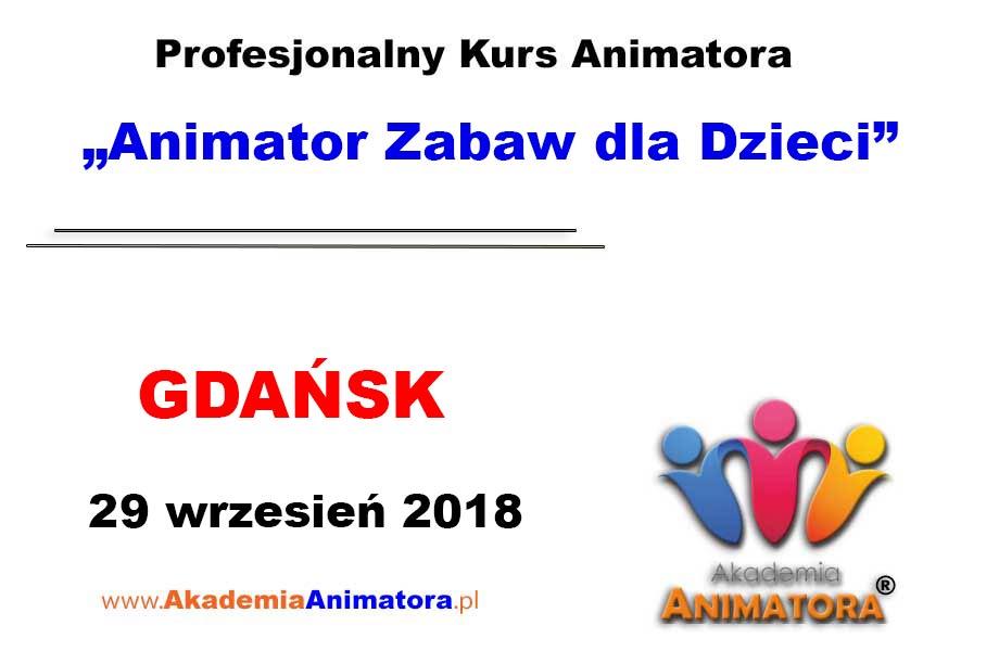 Kurs Animatora Gdańsk 29.09.2018