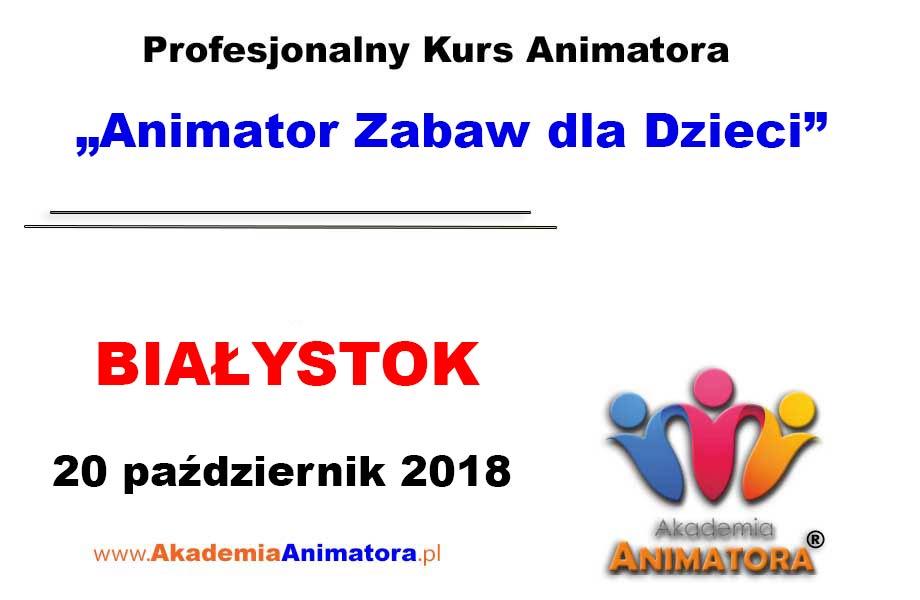 Kurs Animatora Białystok 20.10.2018