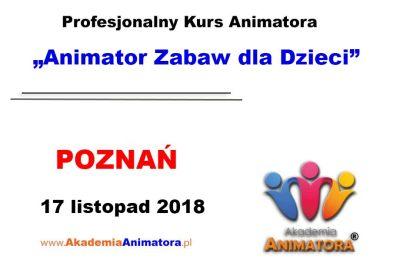 Kurs Animatora Poznań 17.11.2018